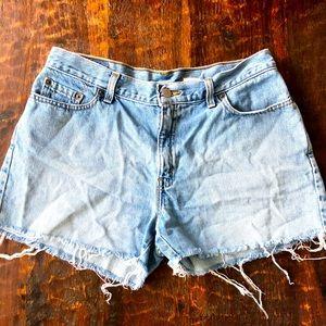 Vintage Levi cut off denim shorts
